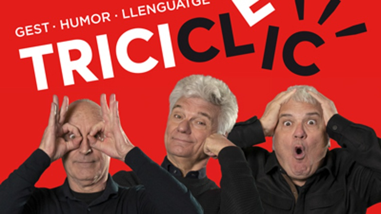 """Tricicle Clic, gesto, humor, lenguaje""""   Guía BCN: agenda de actividades,  directorios y cursos de Barcelona"""